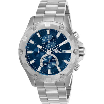 Invicta Men's Chrono Watch - Pro Diver Blue Dial Stainless Steel Bracelet | 22750