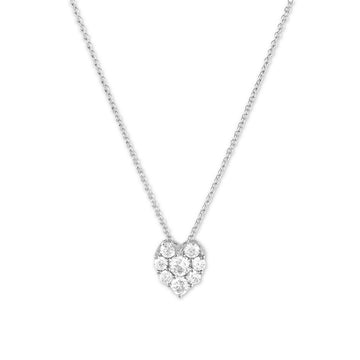 Sterling Silver Small Heart CZ Necklace