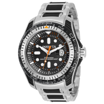Invicta Men's GMT Watch - Hydromax Black Bezel Two Tone Bracelet | 29586