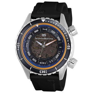 Technomarine Men's Automatic Watch - Dual Zone Blue and Transparent Dial | TM-218003
