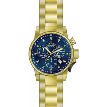 Invicta Men's Chronograph Watch - I-Force Blue Dial Yellow Gold Bracelet | 31637