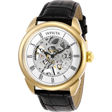 Invicta Men's Mechanical Watch - Specialty Silver Tone Skeleton Dial Strap | 28812