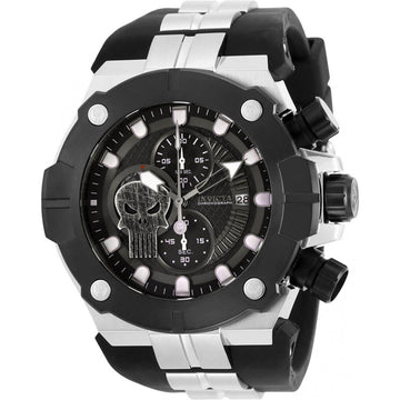 Invicta Men's Chronograph Watch - Marvel Black Dial Two Tone Strap | 30316