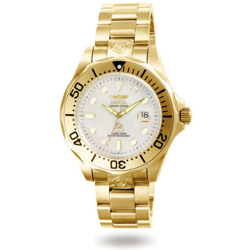 Invicta 3052 Men's Pro Diver Yellow Gold Plated White Dial Watch