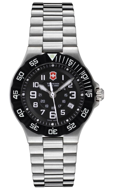 Swiss Army 241348 Women's Black Dial Stainless Steel Watch