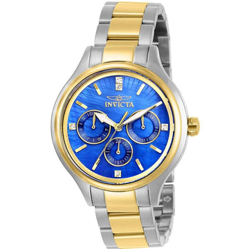 Invicta Women's Quartz Watch - Angel Blue MOP Dial Two Tone Bracelet | 28738