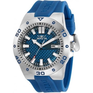 Invicta Men's Quartz Watch - Pro Diver Blue Dial Rubber Strap | 30960