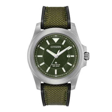 Citizen Men's Strap Watch - Promaster Tough Green Dial Fabric & Rubber | BN0211-09X