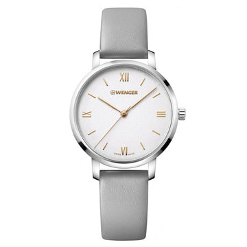 Wenger Women's Strap Watch - Metropolitan Donnissima Grey Leather | 01.1731.102