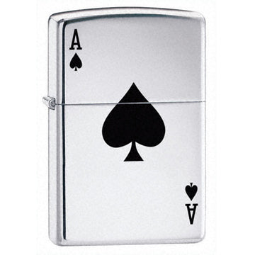 Zippo 24011 Classic Lucky Ace High Polish Chrome Windproof Lighter