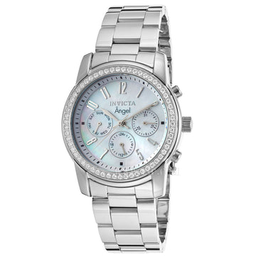 Invicta 17019 Women's Angel White MOP Dial Stainless Steel Bracelet Watch