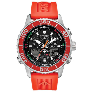 Citizen Men's Ana-Digi Watch - Promaster Sailhawk Orange Rubber Strap | JR4061-00F