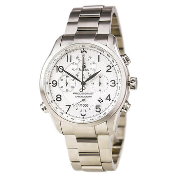 Bulova 96B183 Men's Precisionist Wilton Chronograph Silver Dial Steel Bracelet Watch