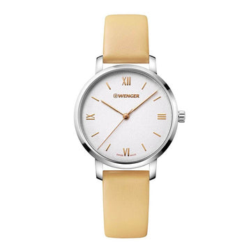Wenger Women's Strap Watch - Metropolitan Donnissima Beige Leather | 01.1731.101