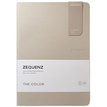 Zequenz Classic 360 Notebook - The Color A5, Ruled, Taupe | 360-TCJ-A5-LITE-TPR