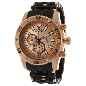 Invicta Men's Chronograph Watch - Sea Spider Rose Gold Dial Two Tone Bracelet | 14861