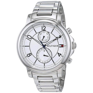 Tommy Hilfiger Women's Quartz Watch - Claudia White Dial Steel Bracelet | 1781819