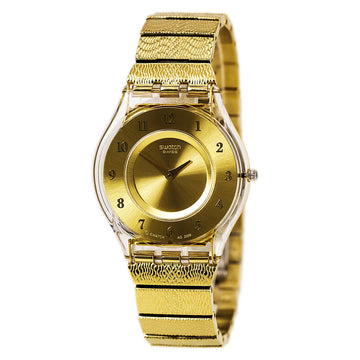 Swatch SFK355G Women's Warm Glow 2010 Fall Winter Gold Tone Dial Yellow