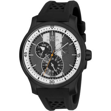 Invicta Men's Quartz Watch - S1 Rally Charcoal and White Dial Black Rubber Strap | 27124