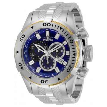 Invicta Men's Chronograph Watch - Bolt Blue Dial Stainless Steel Bracelet | 29742
