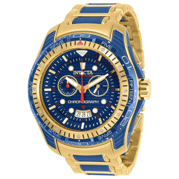 Invicta Men's Chronograph Watch - Hydromax TT Blue and Yellow Gold Bracelet | 29578