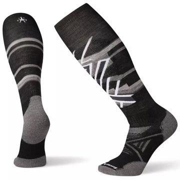 Smartwool Men's Socks - PhD Ski Medium Pattern, Black, Medium | SW001181-001-M