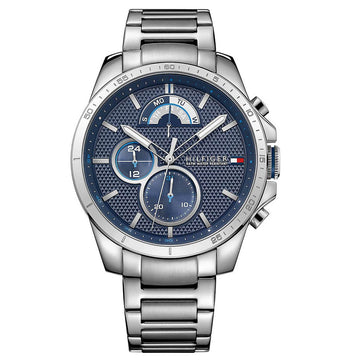 Tommy Hilfiger Men's Watch - Decker Blue Dial Stainless Steel Bracelet | 1791348
