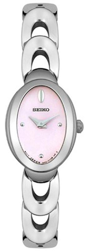 Seiko SUJE17 Women's Stainless Steel Pink Dial Quartz Watch