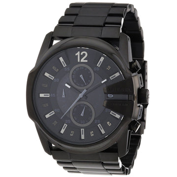 Diesel Men's Chrono Watch - Master Chief Black Stainless Steel Bracelet | DZ4204