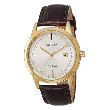 Citizen Men's Eco-Drive Watch - Brown Leather Strap | AW1233-01A