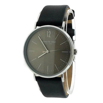 Kenneth Cole KC50506001 Men's Classic Grey Dial Black Strap Watch
