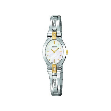 Seiko Women's 16 Diamond Mother of Pearl Dial Watch SUJC38
