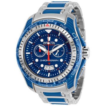 Invicta Men's Chronograph Watch - Hydromax Blue Dial Two Tone Bracelet | 29576