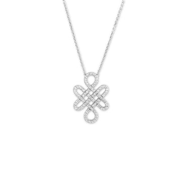 Sterling Silver Fancy Shaped CZ Necklace