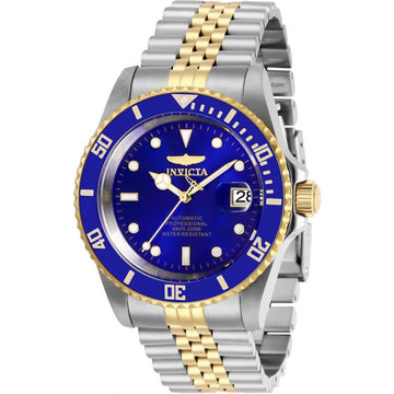 Invicta Men's Automatic Watch - Pro Diver Blue Dial Two Tone Bracelet | 29182