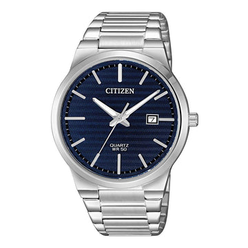 Citizen Men's Bracelet Watch - Quartz Blue Dial Stainless Steel Date | BI5060-51L