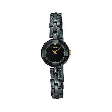 Seiko Women's Quartz Black Bracelet Watch SUJF15