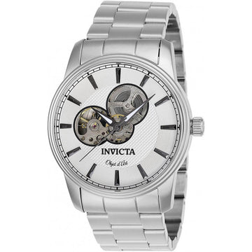 Invicta Men's Automatic Watch - Objet D Art Silver Tone Dial Bracelet | 27560