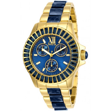 Invicta Women's Quartz Watch - Angel Two Tone Yellow Gold and Blue Bracelet | 29096