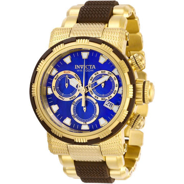 Invicta Men's Chronograph Watch - Specialty Blue MOP Dial Two Tone Bracelet | 28802