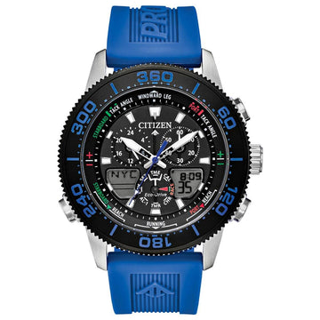 Citizen Men's Ana-Digi Watch - Promaster Sailhawk Blue Rubber Strap | JR4068-01E