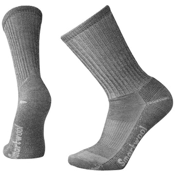 Smartwool Men's Crew Socks - Light Hiking, Gray, Medium | SW0SW129-043-L