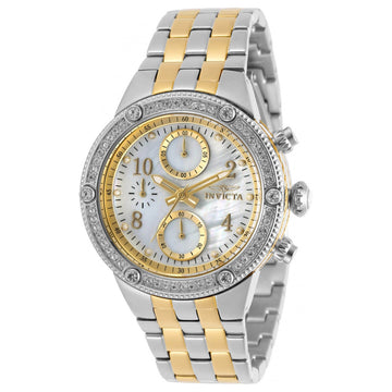 Invicta Women's Chronograph Watch - Angel White Oyster Dial TT Bracelet | 29529