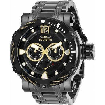 Invicta Men's Quartz Watch - Bolt Black Dial Gunmetal IP Steel Bracelet | 29834