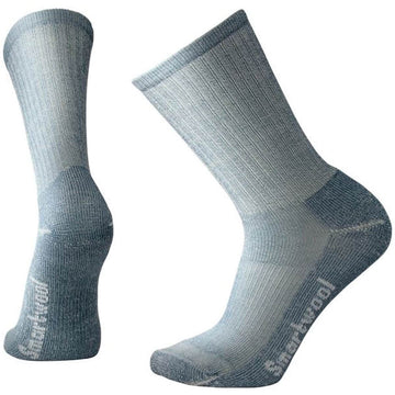 Smartwool Men's Crew Socks - Light Hiking, Denim, Large | SW0SW129-420-L