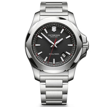 Victorinox Swiss Army Men's Watch - I.N.O.X. Black Dial Steel Bracelet | 241723.1