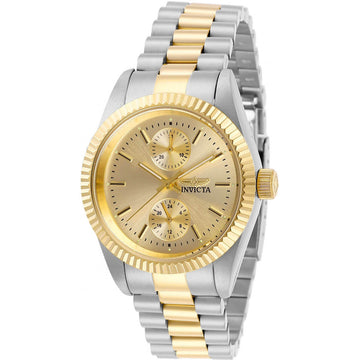 Invicta Women's Quartz Watch - Specialty Gold Tone Dial Two Tone Bracelet | 29443