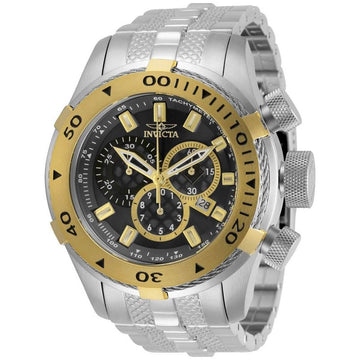 Invicta Men's Chronograph Watch - Bolt Black Dial Stainless Steel Bracelet | 29743
