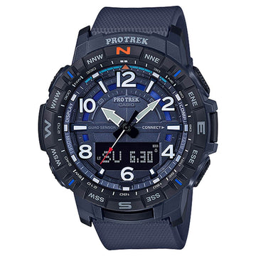 Casio Men's Bluetooth Watch - Pro Trek Ana-Digi Dial Blue Strap | PRTB50-2