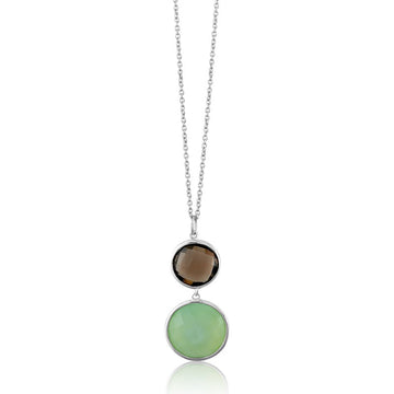 Sterling Silver New Jade Pendant Necklace